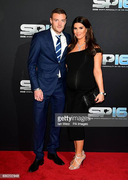 Jamie Vardy and Rebekah Vardy during the red carpet arrivals for BBC Sports Personality of the Year 2016 at The Vox at Resorts World Birmingham