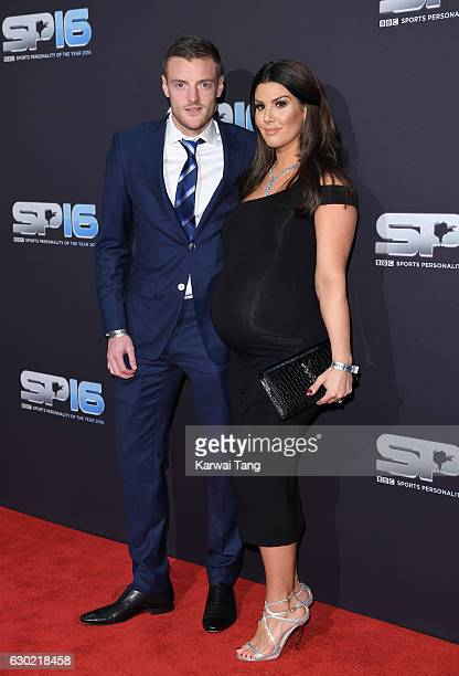 Jamie Vardy and wife Rebekah attend the BBC Sports Personality Of The Year at Resorts World on December 18 2016 in Birmingham United Kingdom