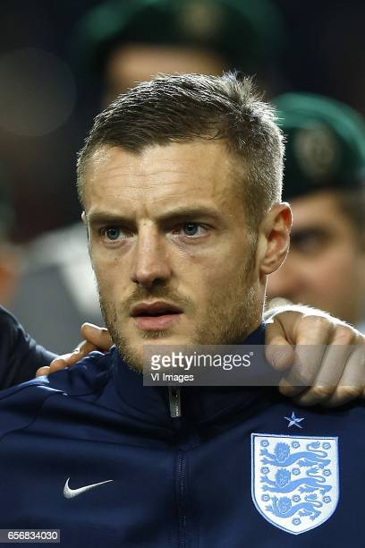 Jamie Vardy of Englandduring the friendly match between Germany and England on March 22 2017 at the Signal Iduna Park stadium in Dortmund Germany