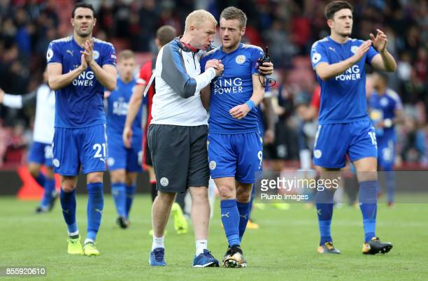 Jamie Vardy of Leicester City after the Premier League match between Bournemouth and Leicester City at Vitality Stadium on September 30th 2017 in...