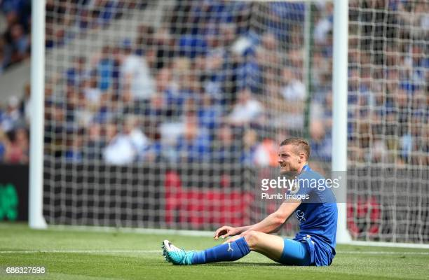 Jamie Vardy of Leicester City during the Premier League match between Leicester City and Bournemouth at King Power Stadium on May 21 2017 in...