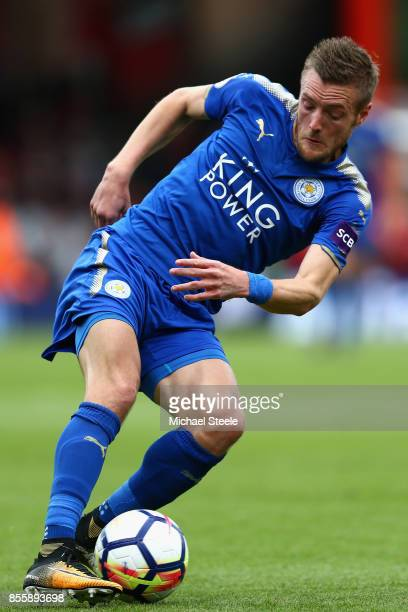 Jamie Vardy of Leicester City in action during the Premier League match between AFC Bournemouth and Leicester City at Vitality Stadium on September...