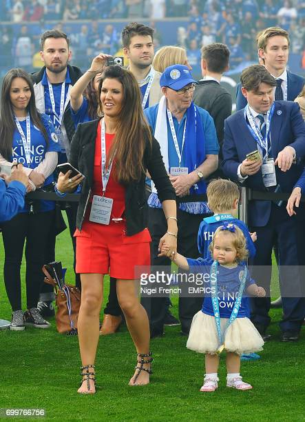 Jamie Vardy's fiancee Rebekah Nicholson on the pitch