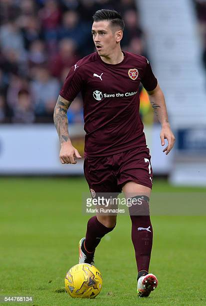 Jamie Walker of Heats in action during the UEFA Europa League First Qualifying Round match between Heart of Midlothian FC and FC Infonet Tallinn at...
