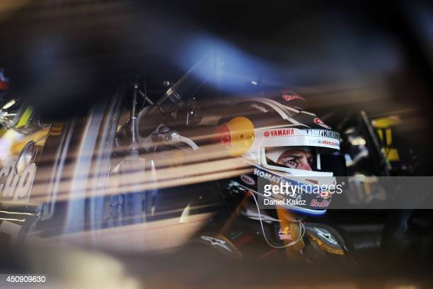 Jamie Whincup driver of the Red Bull Racing Australia Holden during practice for the Triple Crown Darwin which is round six of the V8 Supercar...