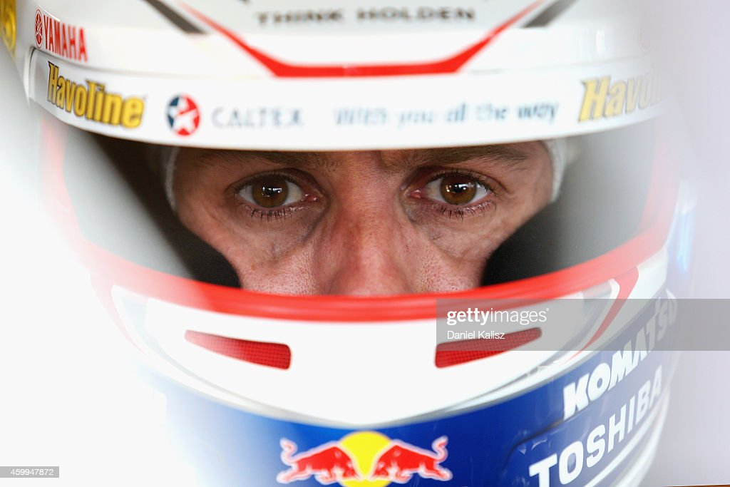 <a gi-track='captionPersonalityLinkClicked' href=/galleries/search?phrase=Jamie+Whincup&family=editorial&specificpeople=678654 ng-click='$event.stopPropagation()'>Jamie Whincup</a> driver of the #1 Red Bull Racing Australia Holden during practice for the Sydney 500, which is part of the V8 Supercar Championship Series at Sydney Olympic Park Street Circuit on December 5, 2014 in Sydney, Australia.