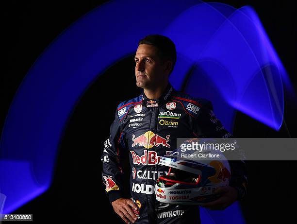 Jamie Whincup driver of the Red Bull Racing Australia Holden poses during a V8 Supercars portrait session on March 3 2016 in Adelaide Australia