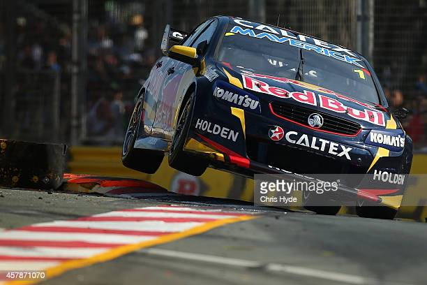 Jamie Whincup drives the Bull Racing Australia Holden in race 32 during the Gold Coast 600 which is round 12 of the V8 Supercars Championship Series...
