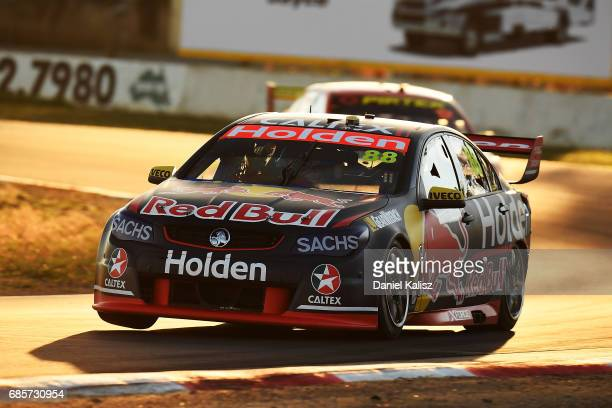 Jamie Whincup drives the Red Bull Holden Racing Team Holden Commodore VF during race 9 for the Winton SuperSprint which is part of the Supercars...