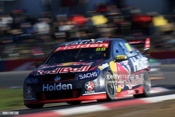 Jamie Whincup drives the Red Bull Holden Racing Team Holden Commodore VF during RACE 10 for the Winton SuperSprint which is part of the Supercars...