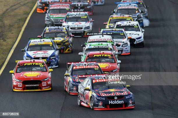 Jamie Whincup drives the Red Bull Holden Racing Team Holden Commodore VF during race 18 for the Sydney SuperSprint which is part of the Supercars...