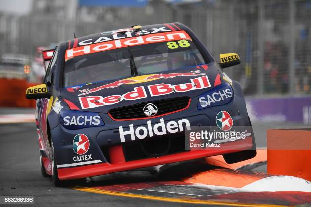 Jamie Whincup drives the Red Bull Holden Racing Team Holden Commodore VF during practice 1 for the Gold Coast 600 which is part of the Supercars...