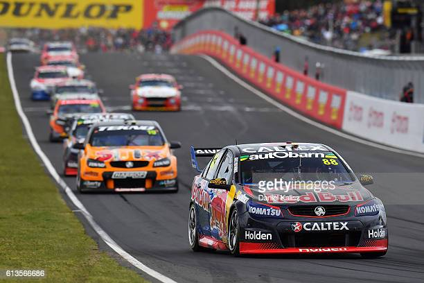 Jamie Whincup drives the Red Bull Racing Australia Holden Commodore VF during the Bathurst 1000 which is race 21 of the Supercars Championship at...