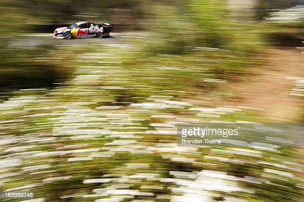 Jamie Whincup drives the Red Bull Racing Australia Holden during practice for the Bathurst 1000 which is round 11 of the V8 Supercars Championship...