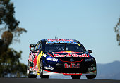 Jamie Whincup drives the Red Bull Racing Australia Holden during qualifying for the Bathurst 1000 which is round 11 of the V8 Supercars Championship...