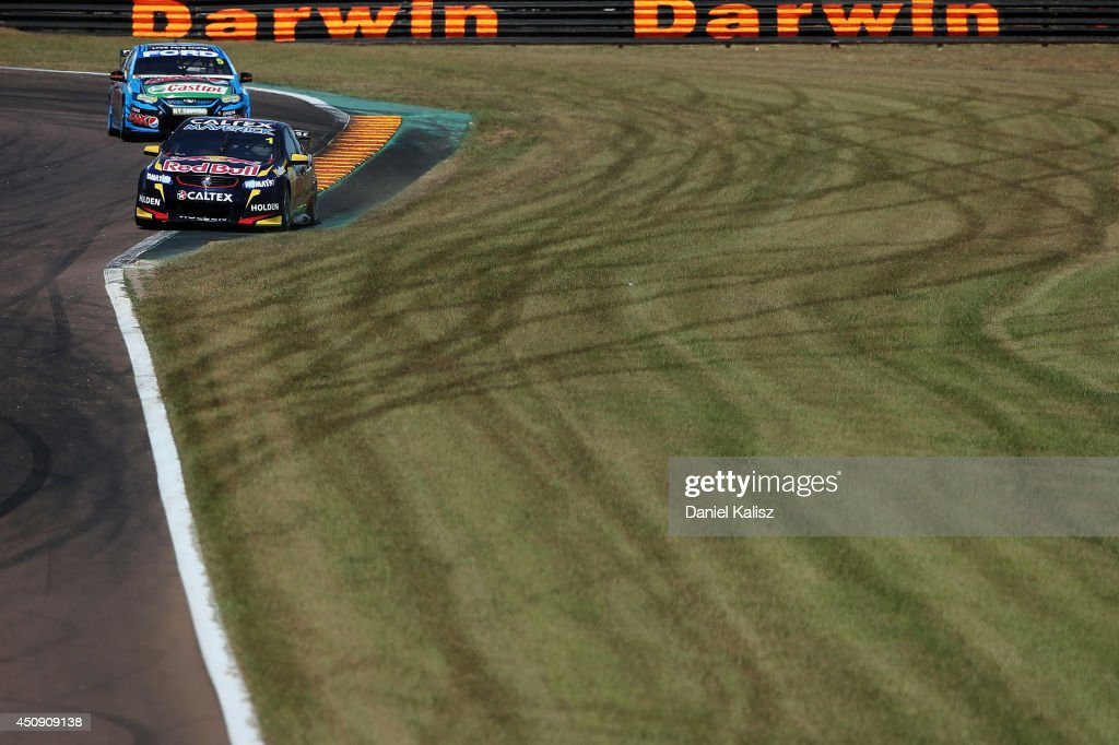Jamie Whincup drives the #1 Red Bull Racing Australia Holden during practice for the Triple Crown Darwin, which is round six of the V8 Supercar Championship Series at Hidden Valley Raceway on June 20, 2014 in Darwin, Australia.