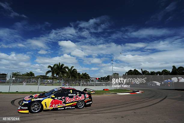 Jamie Whincup drives the Red Bull Racing Australia Holden during practice for the Townsville 500 which is round seven of the V8 Supercar Championship...