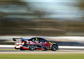 Jamie Whincup drives the Red Bull Racing Australia Holden during practice for the V8 Supercars Winton SuperSprint at Winton Motor Raceway on May 15...