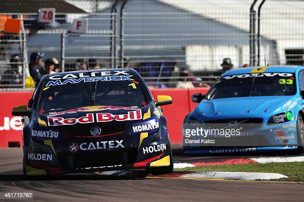Jamie Whincup drives the Red Bull Racing Australia Holden during race 20 for the Townsville 500 which is round seven of the V8 Supercar Championship...