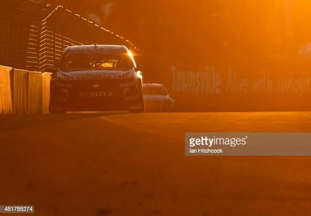 Jamie Whincup drives the Red Bull Racing Australia Holden during race 22 of the Townsville 500 which is round seven of the V8 Supercar Championship...