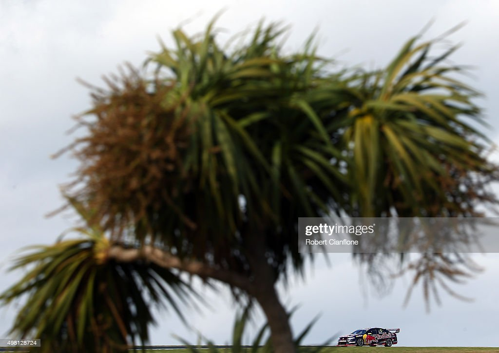 Jamie Whincup drives the #1 Red Bull Racing Australia Holden during Race 32 for the Phillip Island SuperSprint, which is part of the V8 Supercar Championship Series at Phillip Island Grand Prix Circuit on November 21, 2015 in Phillip Island, Australia.