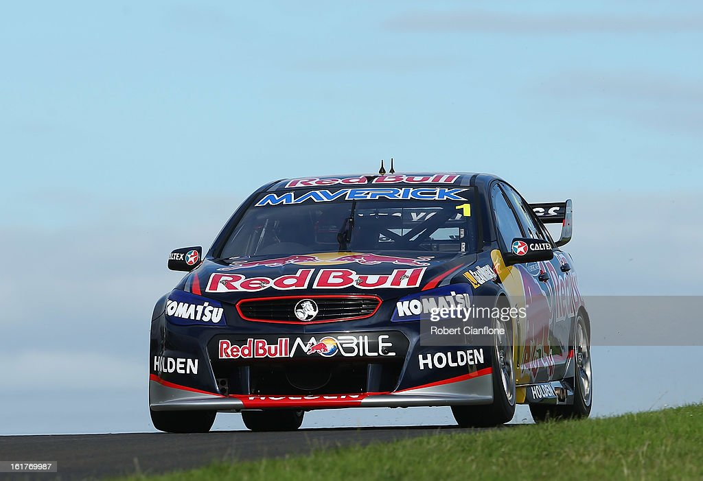 Jamie Whincup drives the #1 Red Bull Racing Australia Holden during the 2013 Official V8 Supercars test day at Sydney Motorsport Park on February 16, 2013 in Sydney, Australia.