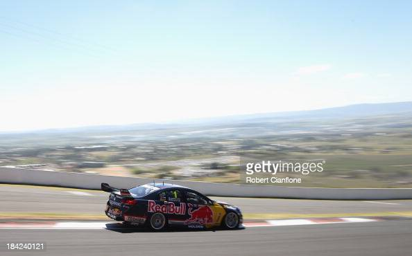 Jamie Whincup drives the Red Bull Racing Australia Holden during the Bathurst 1000 which is round 11 of the V8 Supercars Championship Series at Mount...
