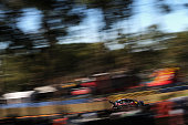 Jamie Whincup drives the Red Bull Racing Australia Holden VF Commodore during practice and qualifying for race 15 for the V8 Supercars Triple Crown...