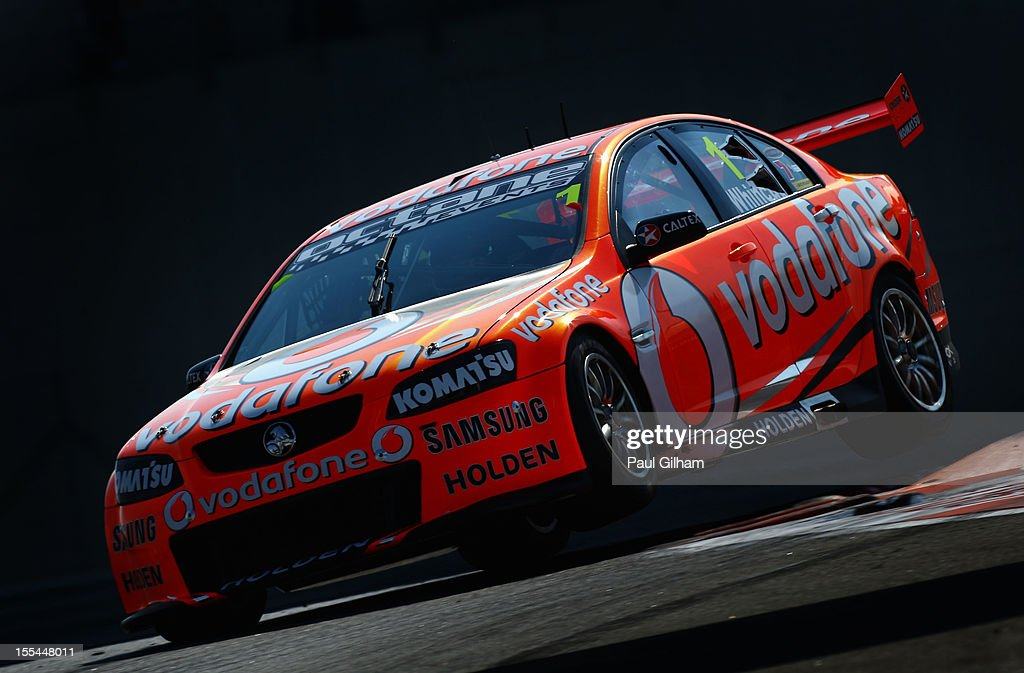 <a gi-track='captionPersonalityLinkClicked' href=/galleries/search?phrase=Jamie+Whincup&family=editorial&specificpeople=678654 ng-click='$event.stopPropagation()'>Jamie Whincup</a> drives the Team Vodafone Holden Commodore to victory during the V8 Supercars race 3 at the Yas Marina Circuit on November 4, 2012 in Abu Dhabi, United Arab Emirates.