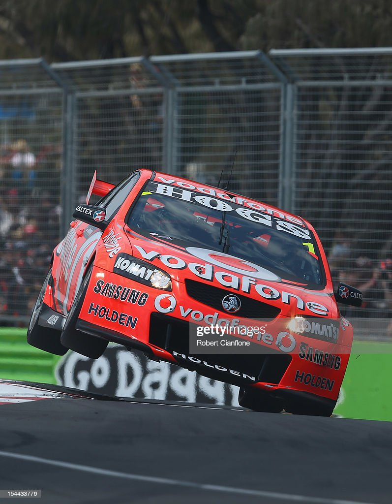 Jamie Whincup drives the #1 Team Vodafone Holden during qualifying for the Gold Coast 600, which is round 12 of the V8 Supercars Championship Series at the Gold Coast Street Circuit on October 20, 2012 on the Gold Coast, Australia.