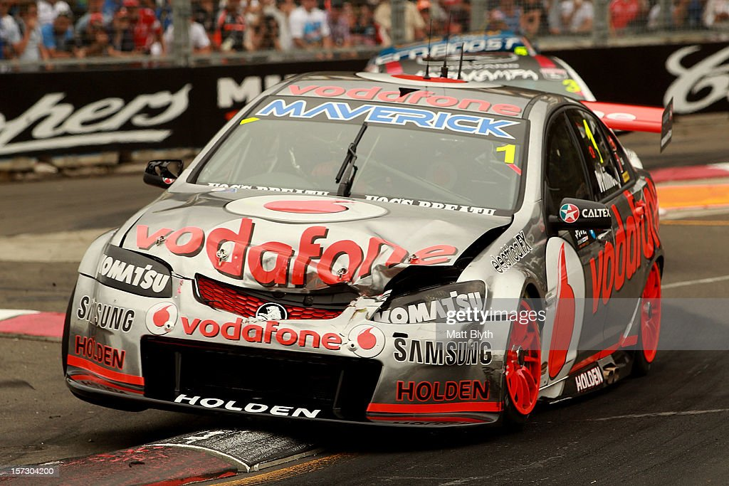 Jamie Whincup drives the #1 Team Vodafone Holden during the Sydney 500, which is round 15 of the V8 Supercars Championship Series at Sydney Olympic Park Street Circuit on December 2, 2012 in Sydney, Australia.
