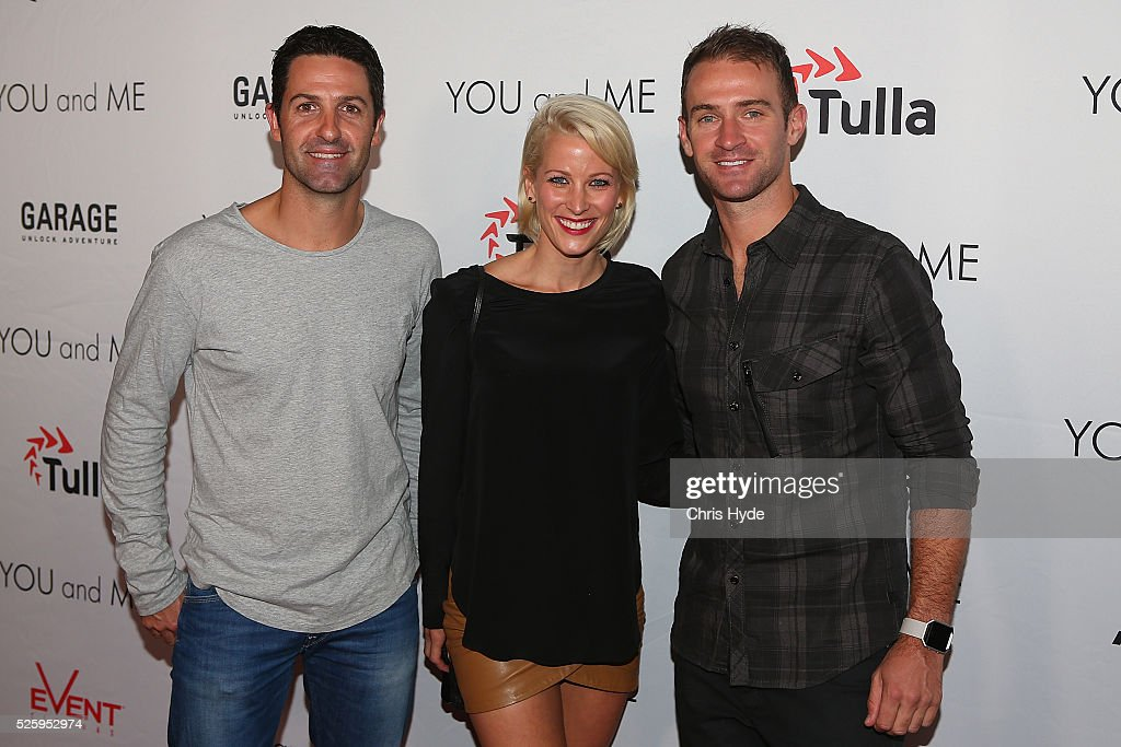 <a gi-track='captionPersonalityLinkClicked' href=/galleries/search?phrase=Jamie+Whincup&family=editorial&specificpeople=678654 ng-click='$event.stopPropagation()'>Jamie Whincup</a>, Riana Crehan and Will Davidson arrive ahead of Gold Coast premiere of 'YOU and ME' at Event Cinemas Pacific Fair on April 29, 2016 in Gold Coast, Australia.