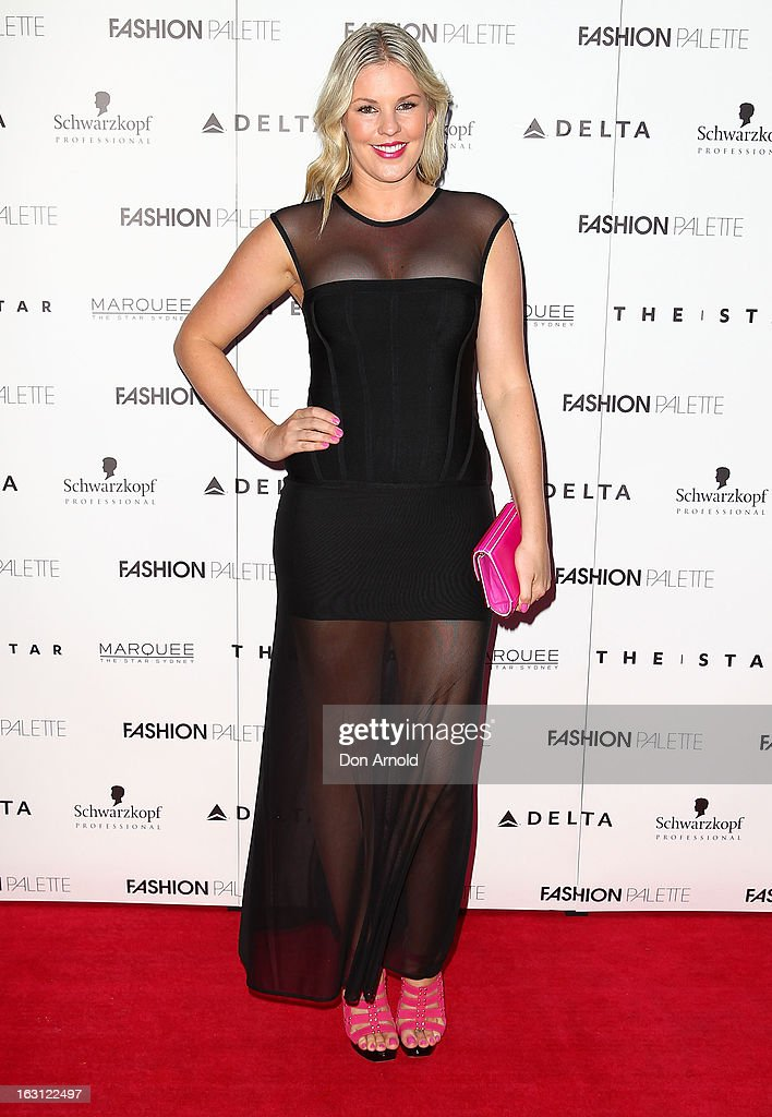 Jamie Wright poses during the Fashion Palette VIP launch at The Star on March 5, 2013 in Sydney, Australia.