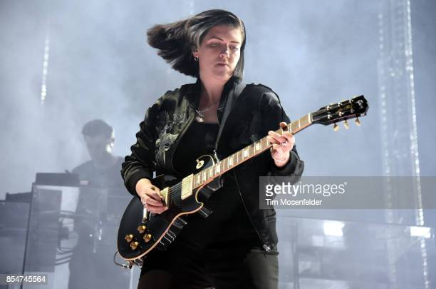 Jamie xx and Romy Madley Croft of The xx perform in support of the band's 'I See You' release at Golden 1 Center on September 26 2017 in Sacramento...