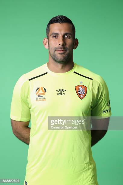 Jamie Younge poses during the Brisbane Roar 2017/18 ALeague Headshots Session at Fox Sports Studios on September 15 2017 in Sydney Australia