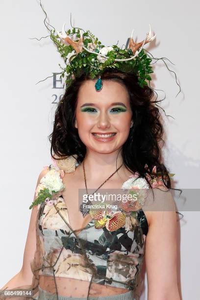 JamieLee Kriewitz attends the Echo award red carpet on April 6 2017 in Berlin Germany