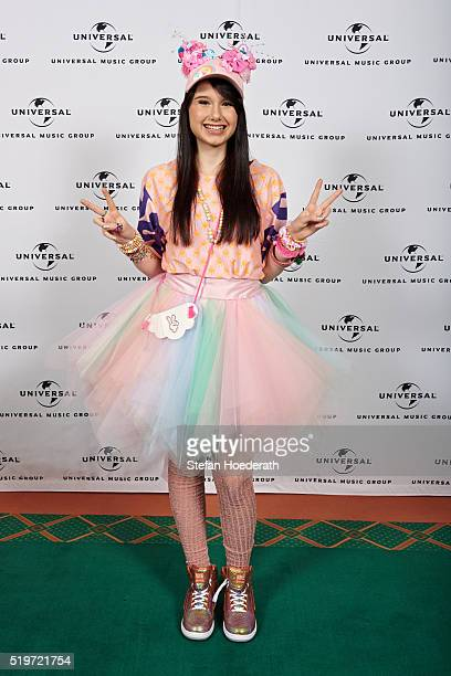 JamieLee Kriewitz attends the preparty hosted by Universal Music ahead of the Echo Award 2016 at ICB on April 7 2016 in Berlin Germany