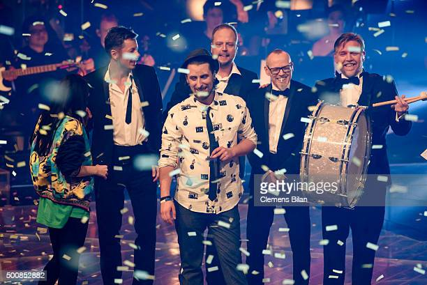 JamieLee Kriewitz Michi Beck Tobias Vorwerk Smudo Thomas D and AndYpsilon are seen on stage during the 'The Voice Of Germany Semi Final' on December...