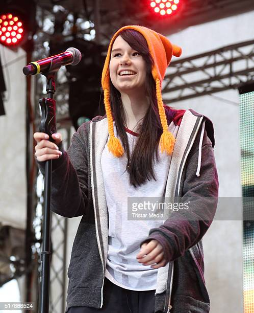 JamieLee Kriewitz performs at the Easter Open Air Concert on March 28 2016 in Hamburg Germany