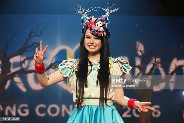 JamieLee Kriewitz performs at the 'Eurovision Song Contest 2016 Unser Lied fuer Stockholm' show on February 25 2016 in Cologne Germany