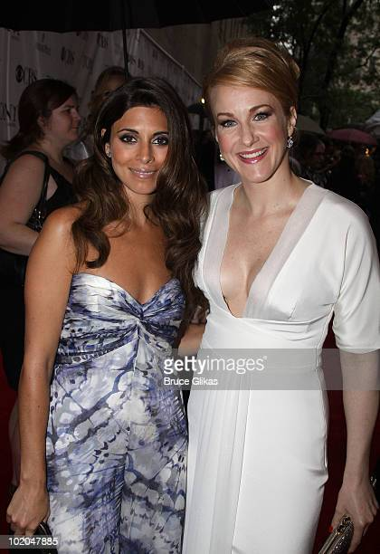 JamieLynn Sigler and Katie Finneran attend the 64th Annual Tony Awards at Radio City Music Hall on June 13 2010 in New York City