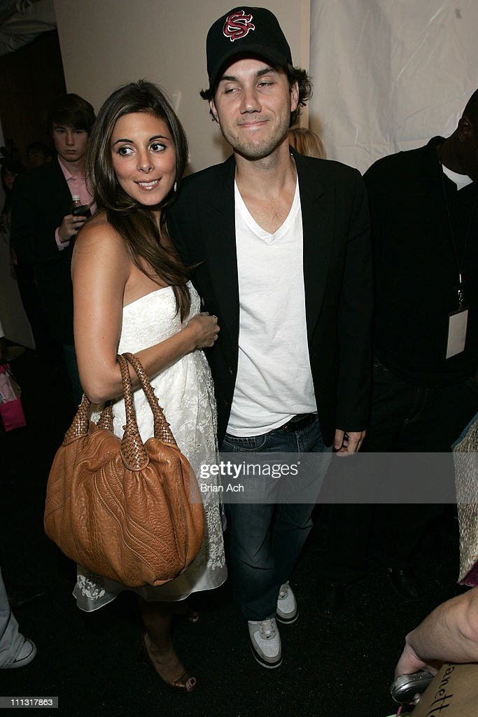JamieLynn Sigler and Scott Sartiano during Olympus Fashion Week Spring 2007 Seen at Bryant Park Day 6 at Bryant Park in New York City New York United...