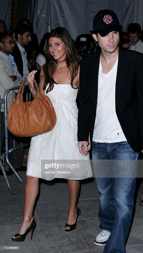 JamieLynn Sigler and Scott Sartiano during Olympus Fashion Week Spring 2007 Heatherette Departures at Bryant Park in New York City New York United...