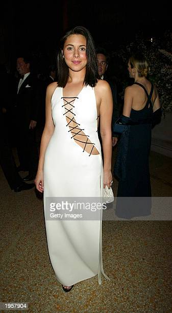 JamieLynn Sigler attends the Costume Institute Benefit Gala sponsored by Gucci April 28 2003 at The Metropolitan Museum of Art in New York City