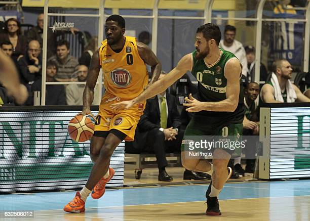 Jamil Wilson during Italy Lega Basket of Serie A match between Fiat Torino v Sidigas Avellino in Turin on january 22 2017