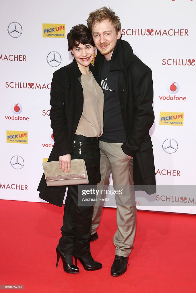 Jamila Saab and Tino Mewes attend the 'Der Schlussmacher' Berlin Premiere at Cinestar Potsdamer Platz on January 7, 2013 in Berlin, Germany.