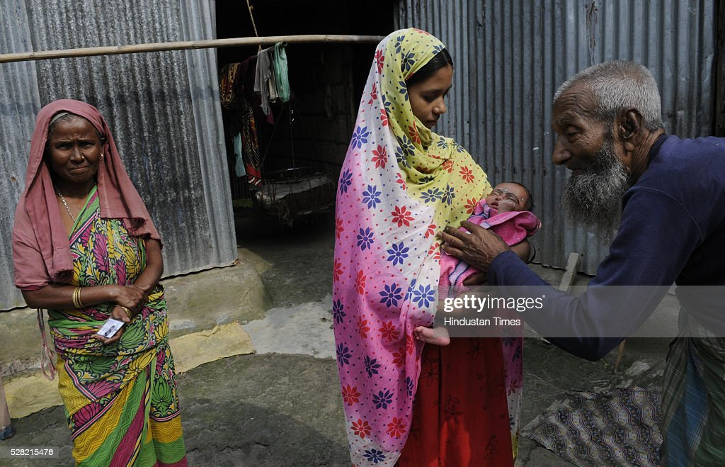 Jamir Khan 105-year-old resident of Mashaldanga village, Chhitmahal is excited about casting vote for the first time tomorrow on May 4, 2015 in Coochbehar, India. More than 9,800 of the 10,100 eligible voters in former Bangladeshi enclaves of West Bengals Cooch Behar have enrolled for the voter list, signalling exceptional enthusiasm among the people who became Indian citizens less than nine months ago. These people have lived in a virtual no-mans land for 68 years because of a complex territorial division, which created enclaves or islands of foreign territory inside each country along the Indo-Bangladesh border. The two countries agreed in 2015 to swap the almost 200 enclaves located in one country but officially belonging to the other.