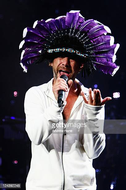 Jamiroquai performs at F1 Rocks in Monza on September 9 2011 in Monza Italy