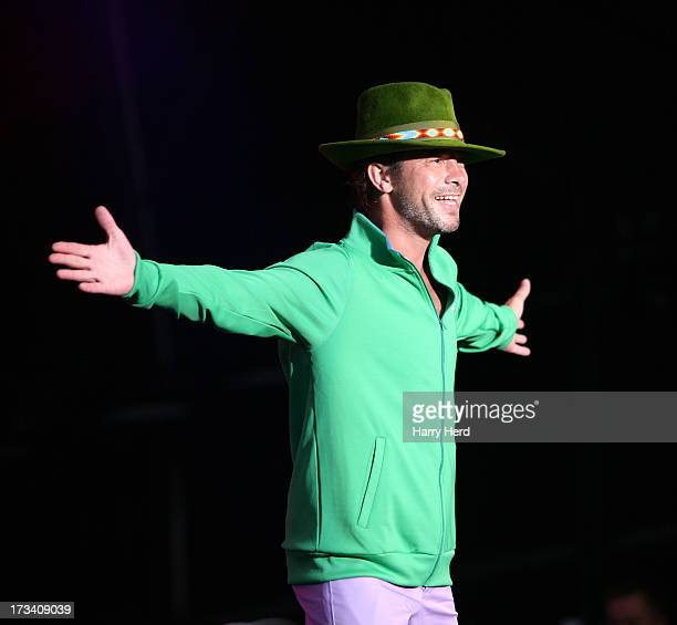 Jamiroquai performs on stage at Magic Summer Live Festival 2013 at Stoke Park on July 13 2013 in Guildford England
