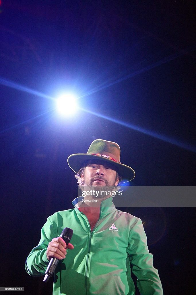 Jamiroquai's frontman Jay Kay performs at the Delicious Food and Music Festival on October 5, 2013 at the Blue Hills Equestrian Estate in Johannesburg, South Africa. The British acid jazz band entertained food lovers who attended the festival on Saturday.